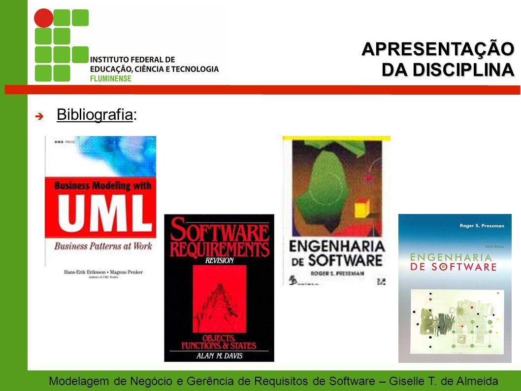 APRESENTAÇÃO DA DISCIPLINA Bibliografia: