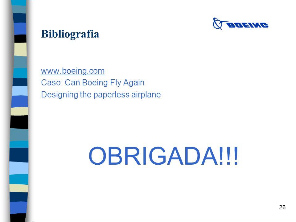 OBRIGADA!!! Bibliografia www.boeing.com Caso: Can Boeing Fly Again