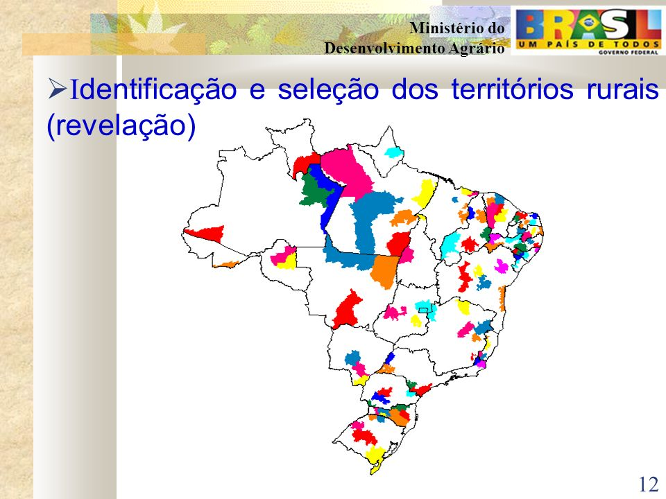 Identificação e seleção dos territórios rurais (revelação)