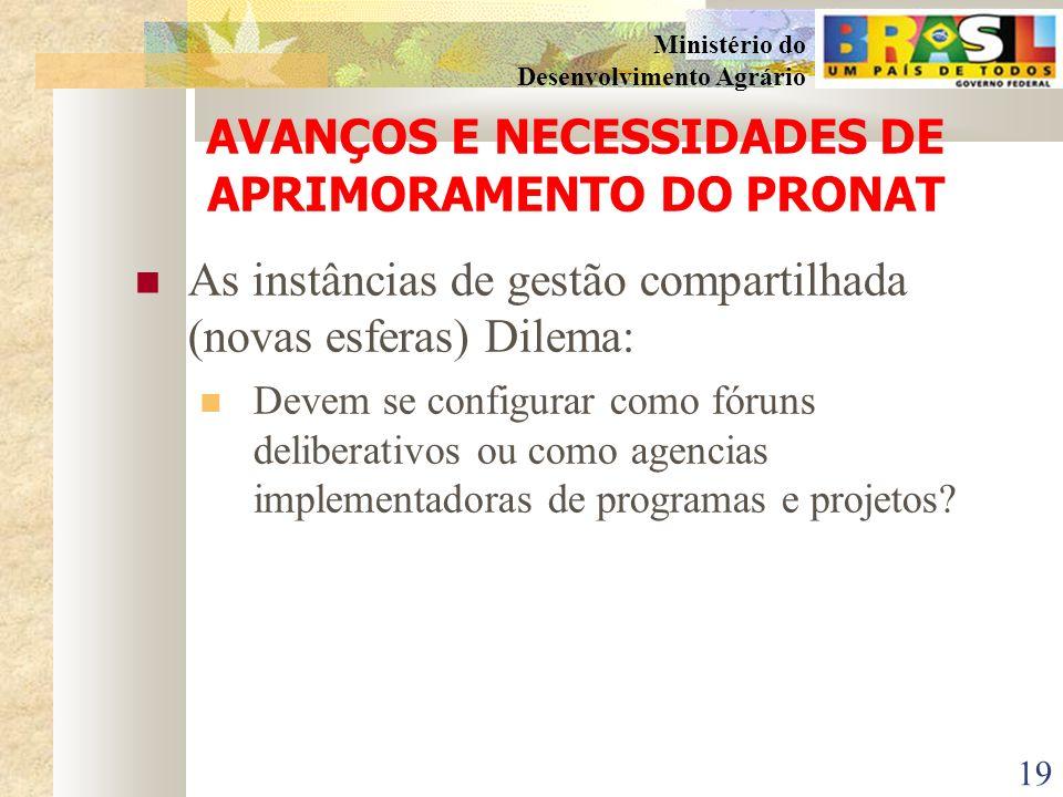 AVANÇOS E NECESSIDADES DE APRIMORAMENTO DO PRONAT