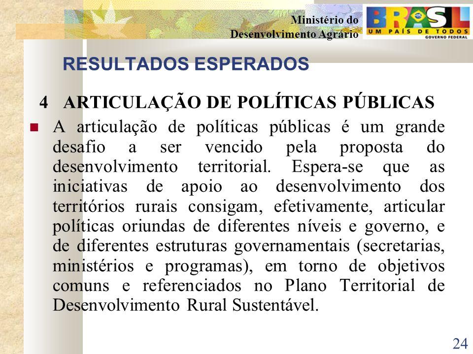 4 ARTICULAÇÃO DE POLÍTICAS PÚBLICAS