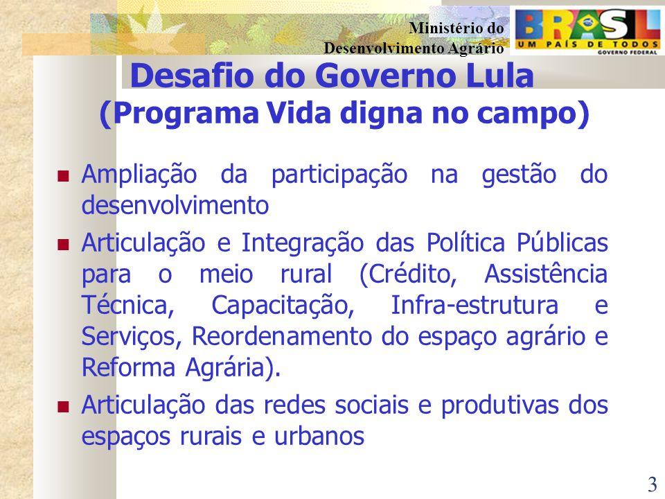 Desafio do Governo Lula (Programa Vida digna no campo)