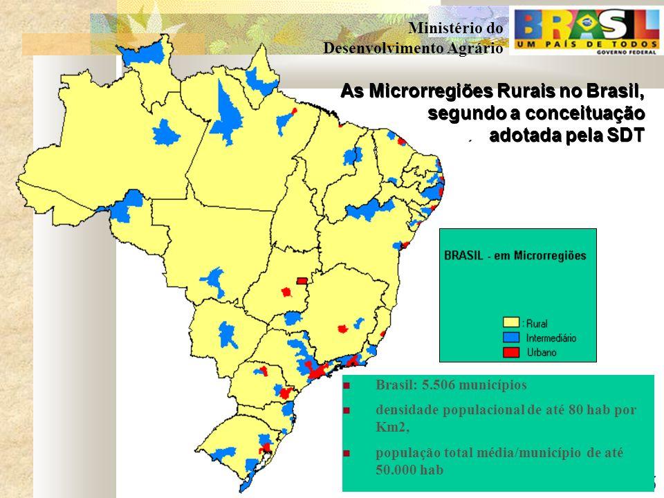 As Microrregiões Rurais no Brasil, segundo a conceituação
