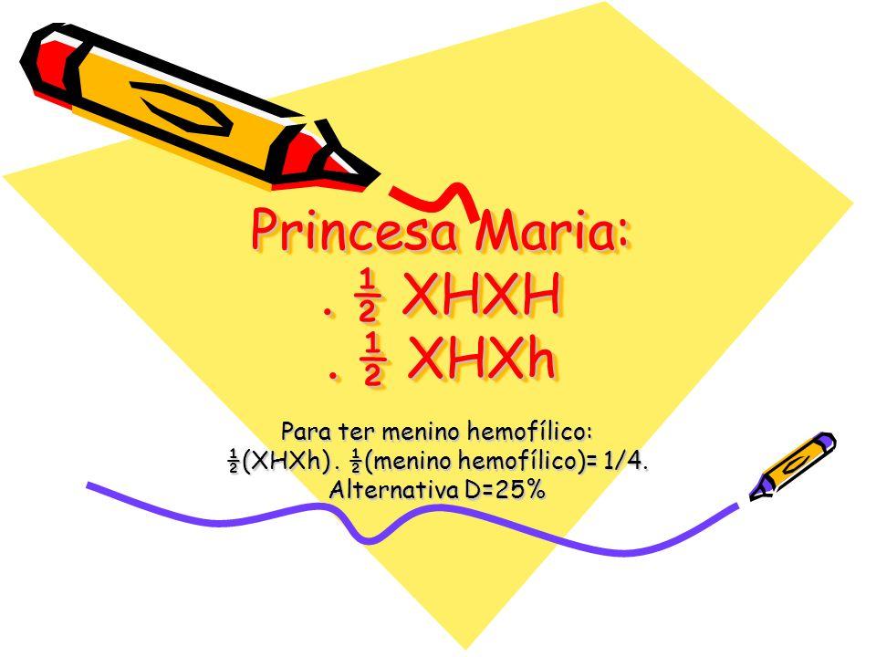 Princesa Maria: . ½ XHXH . ½ XHXh