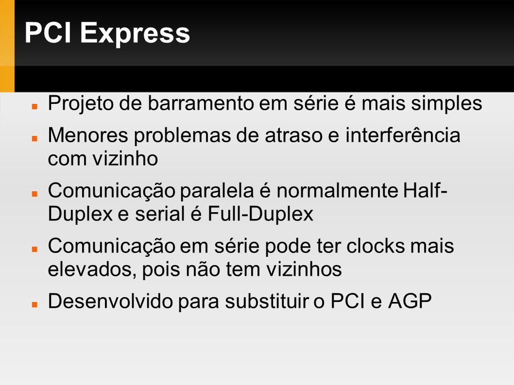 PCI Express Projeto de barramento em série é mais simples