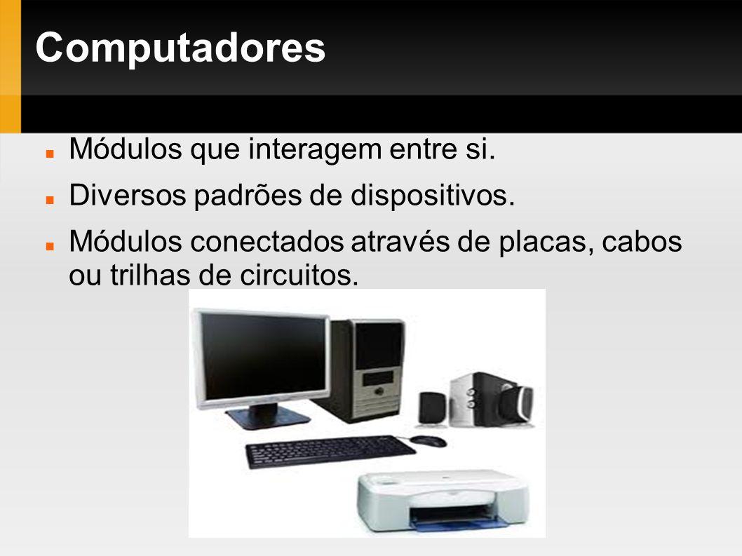 Computadores Módulos que interagem entre si.