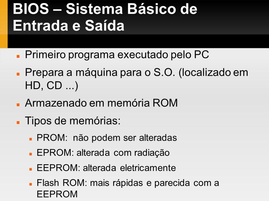 BIOS – Sistema Básico de Entrada e Saída