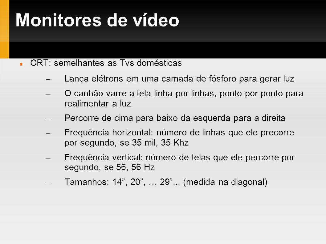 Monitores de vídeo CRT: semelhantes as Tvs domésticas