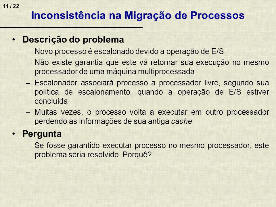 Inconsistência na Migração de Processos