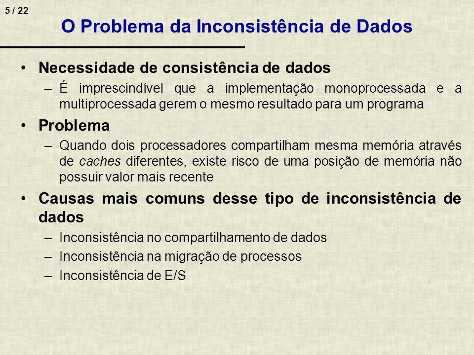 O Problema da Inconsistência de Dados