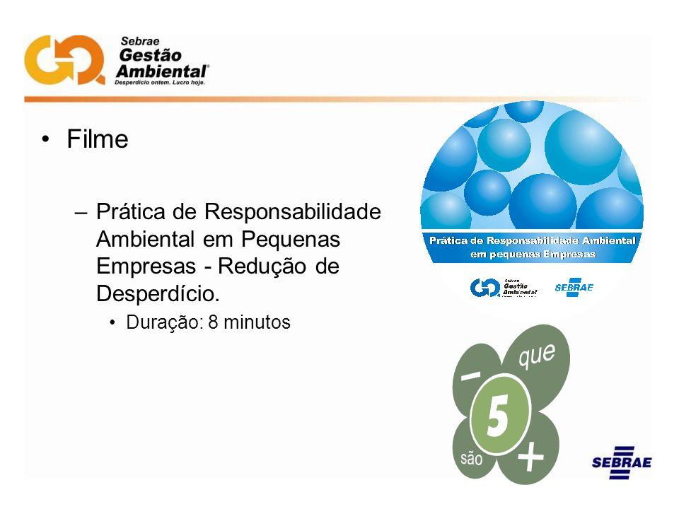 Filme Prática de Responsabilidade Ambiental em Pequenas Empresas - Redução de Desperdício.