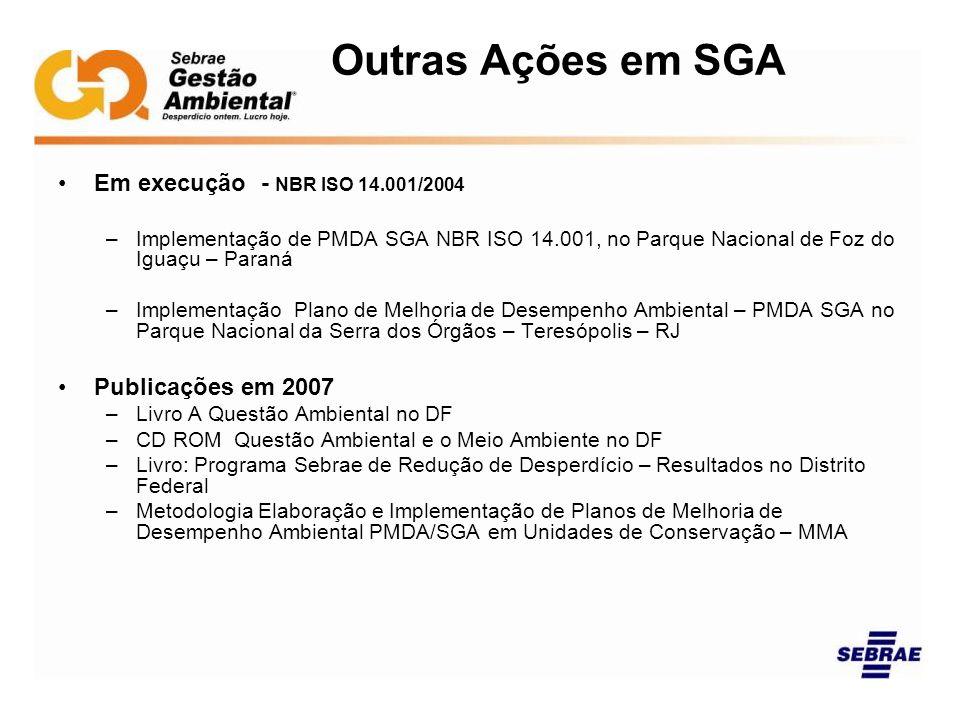 Outras Ações em SGA Em execução - NBR ISO 14.001/2004