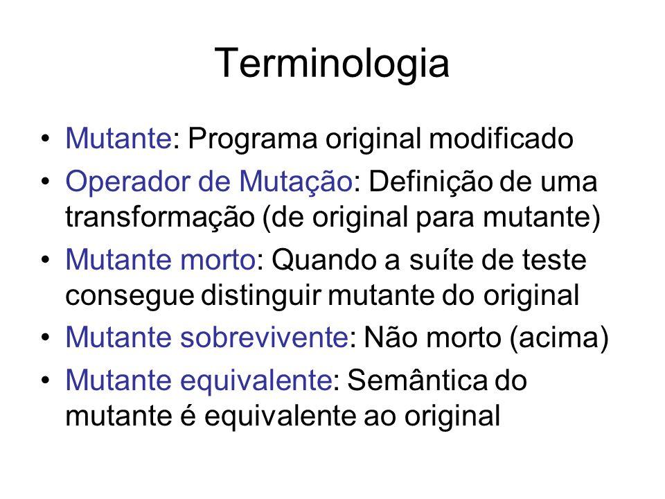 Terminologia Mutante: Programa original modificado