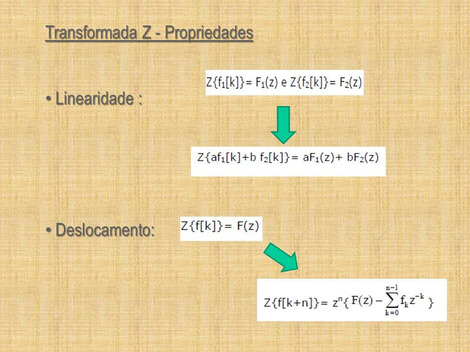 Transformada Z - Propriedades