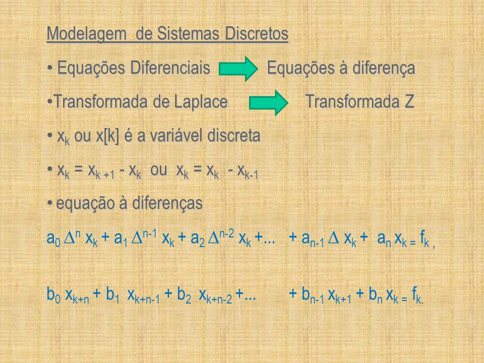 Modelagem de Sistemas Discretos