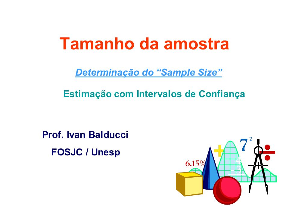 Determinação do Sample Size