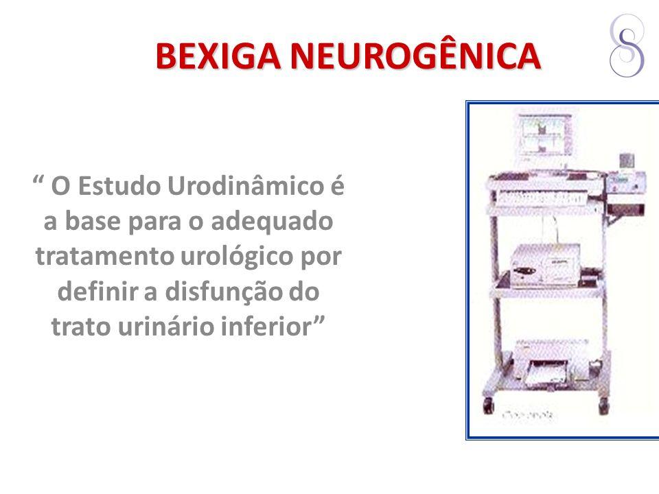BEXIGA NEUROGÊNICA O Estudo Urodinâmico é a base para o adequado tratamento urológico por definir a disfunção do trato urinário inferior