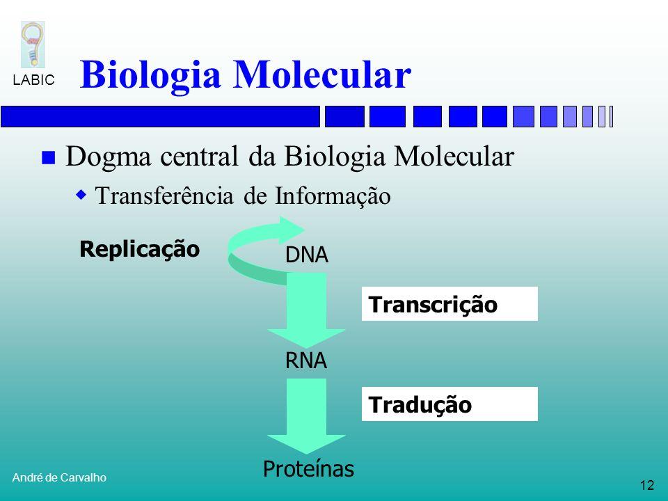 Biologia Molecular Dogma central da Biologia Molecular