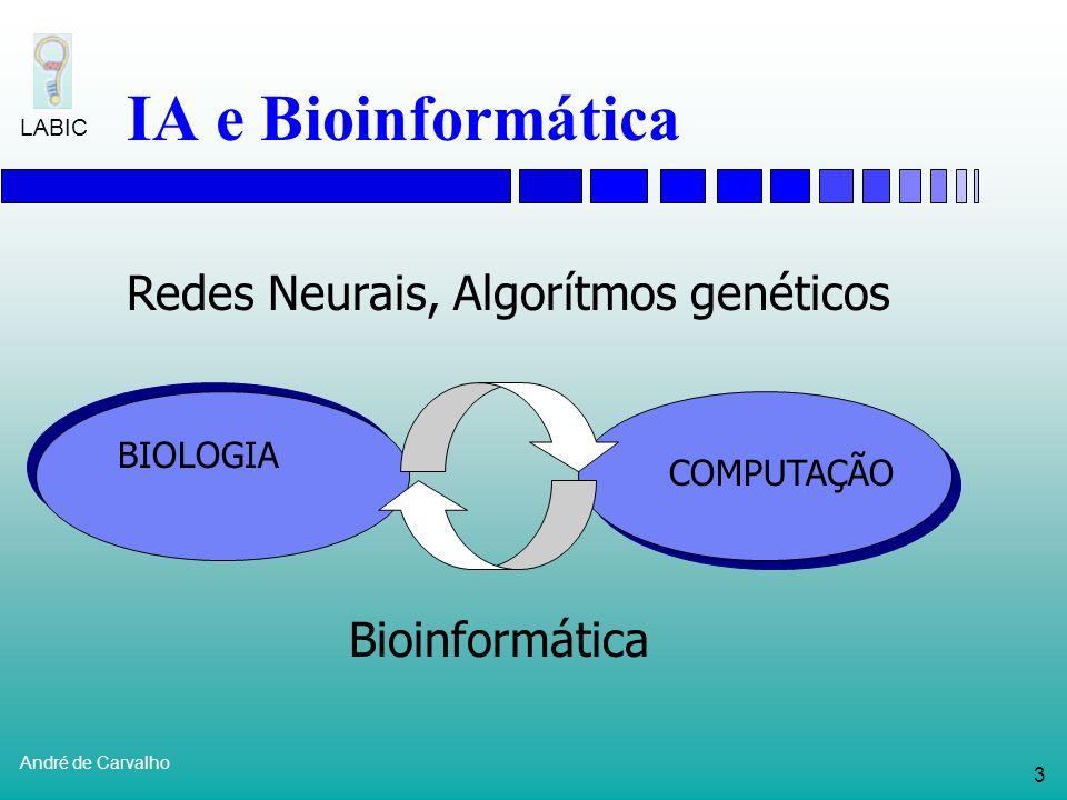 IA e Bioinformática Redes Neurais, Algorítmos genéticos Bioinformática