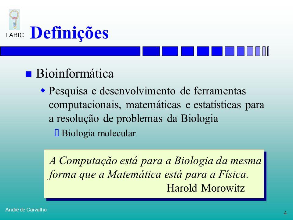 Definições Bioinformática