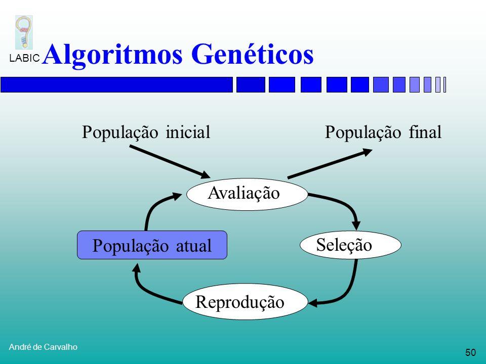 Algoritmos Genéticos População inicial População final Avaliação