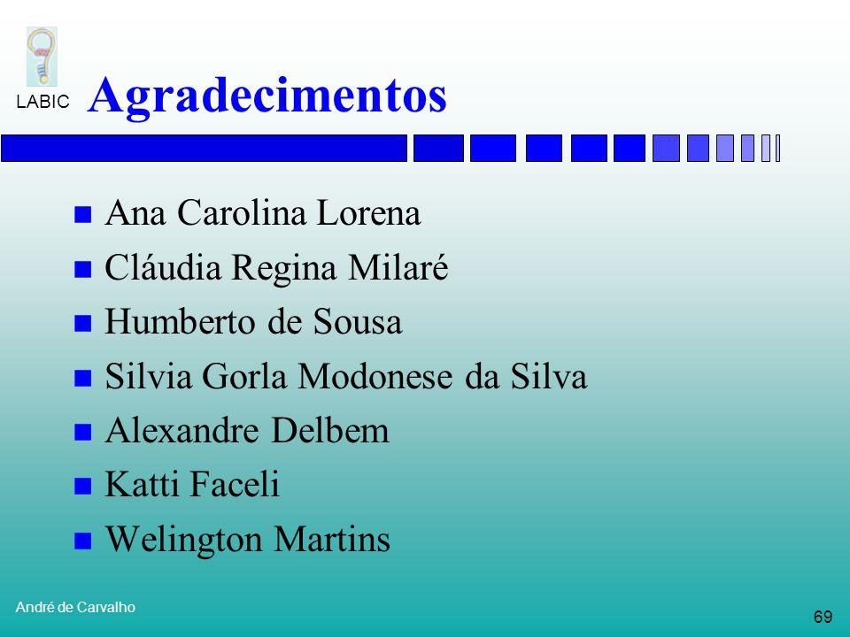 Agradecimentos Ana Carolina Lorena Cláudia Regina Milaré