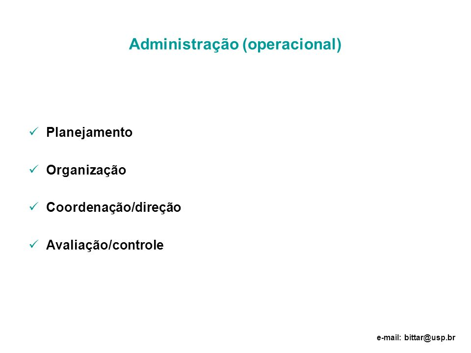Administração (operacional)