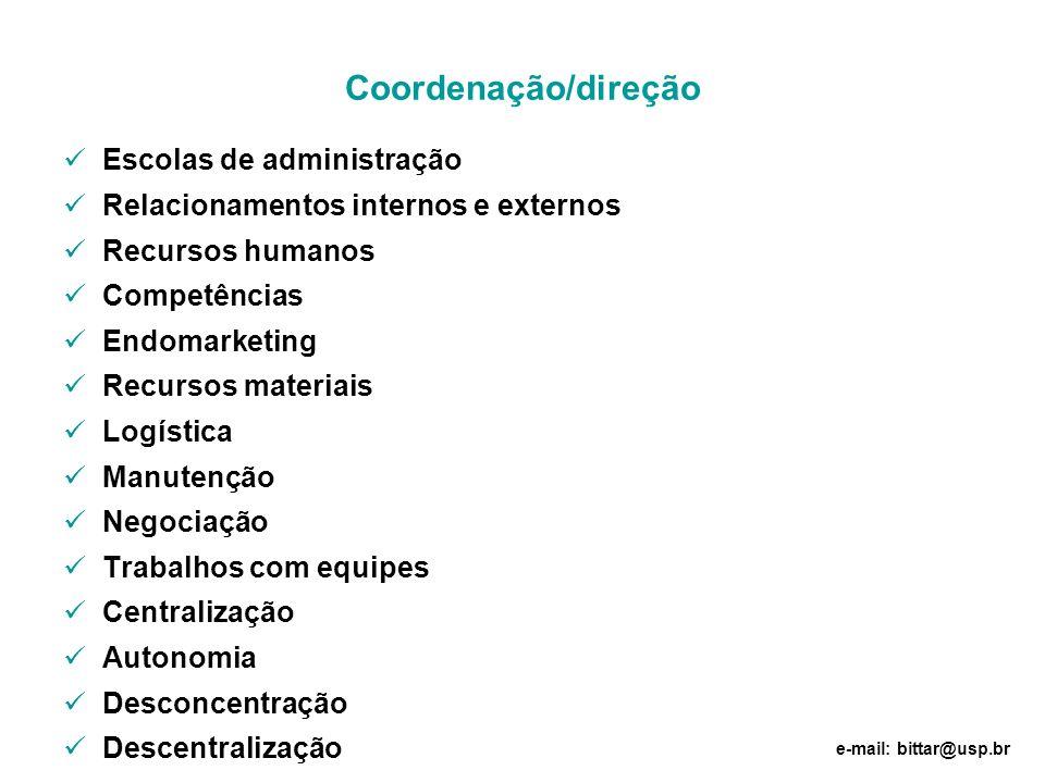 Coordenação/direção Escolas de administração