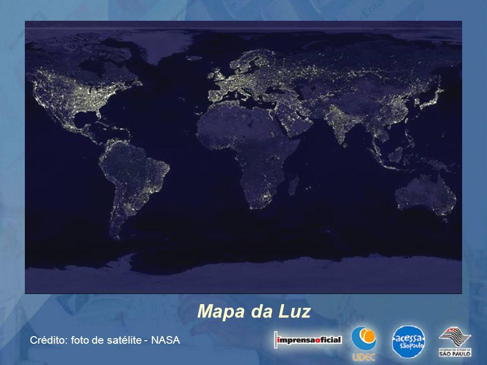 Mapa da Luz Crédito: foto de satélite - NASA
