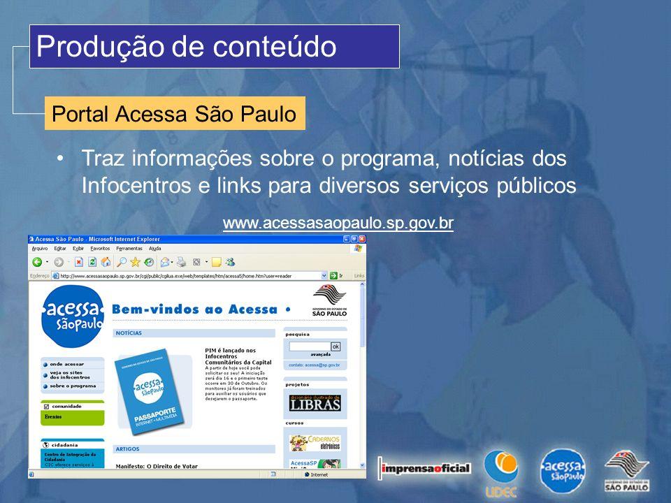 Produção de conteúdo Portal Acessa São Paulo