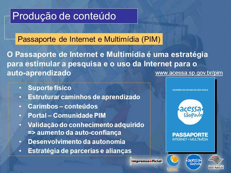 Produção de conteúdo Passaporte de Internet e Multimídia (PIM)