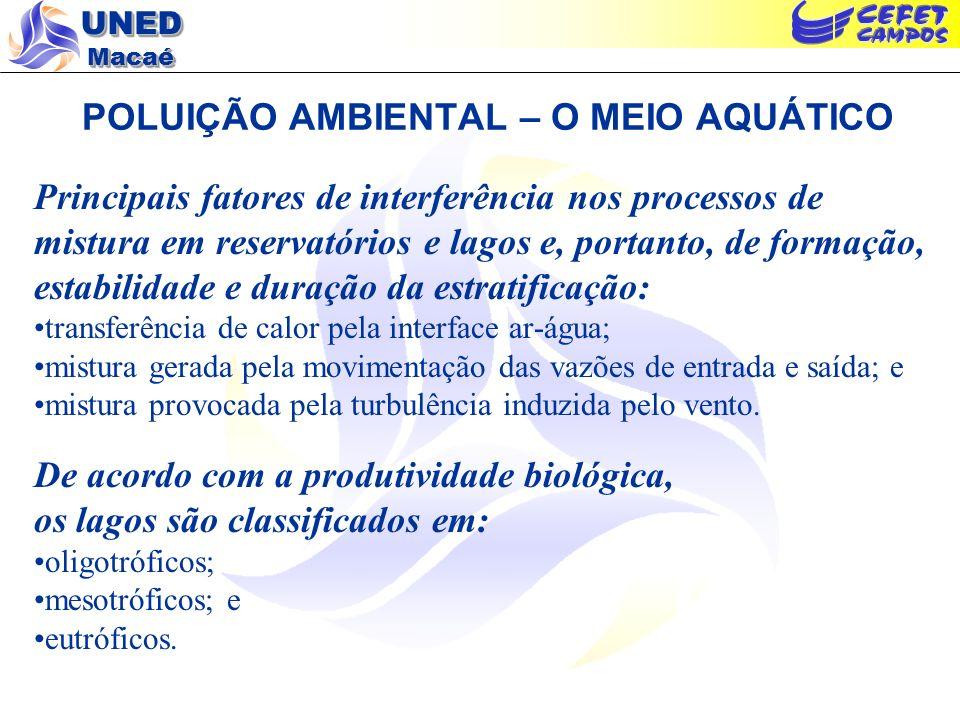 POLUIÇÃO AMBIENTAL – O MEIO AQUÁTICO