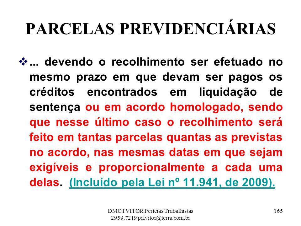 PARCELAS PREVIDENCIÁRIAS