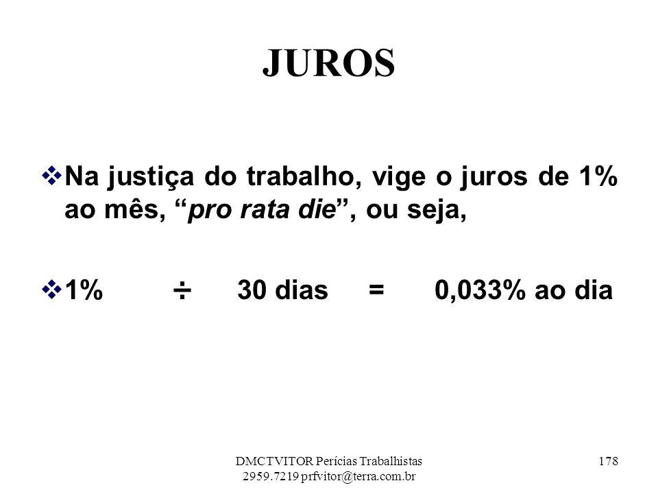 DMCTVITOR Perícias Trabalhistas 2959.7219 prfvitor@terra.com.br