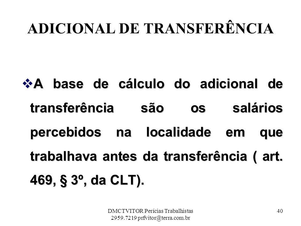 ADICIONAL DE TRANSFERÊNCIA