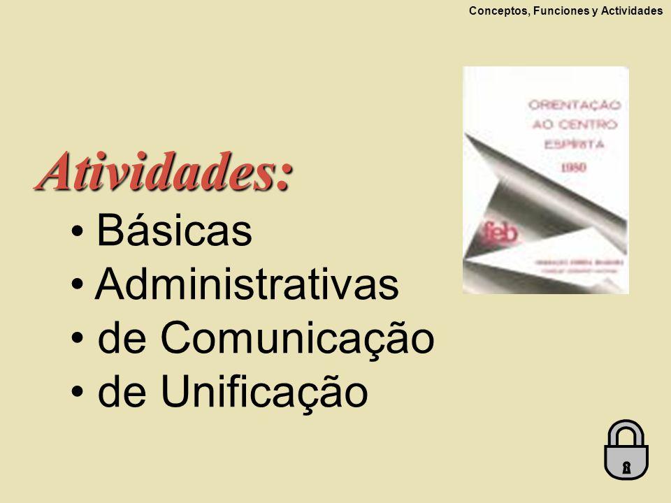 Atividades: Básicas Administrativas de Comunicação de Unificação