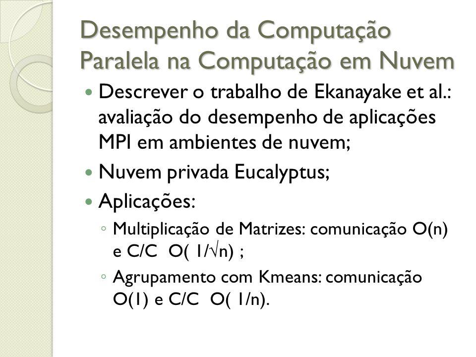 Desempenho da Computação Paralela na Computação em Nuvem