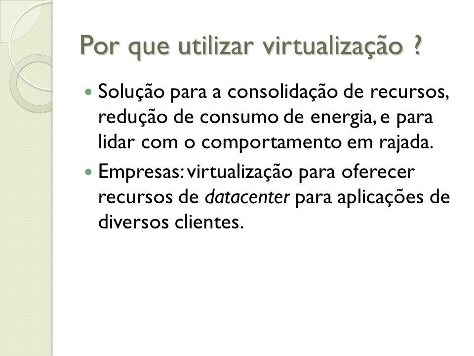 Por que utilizar virtualização