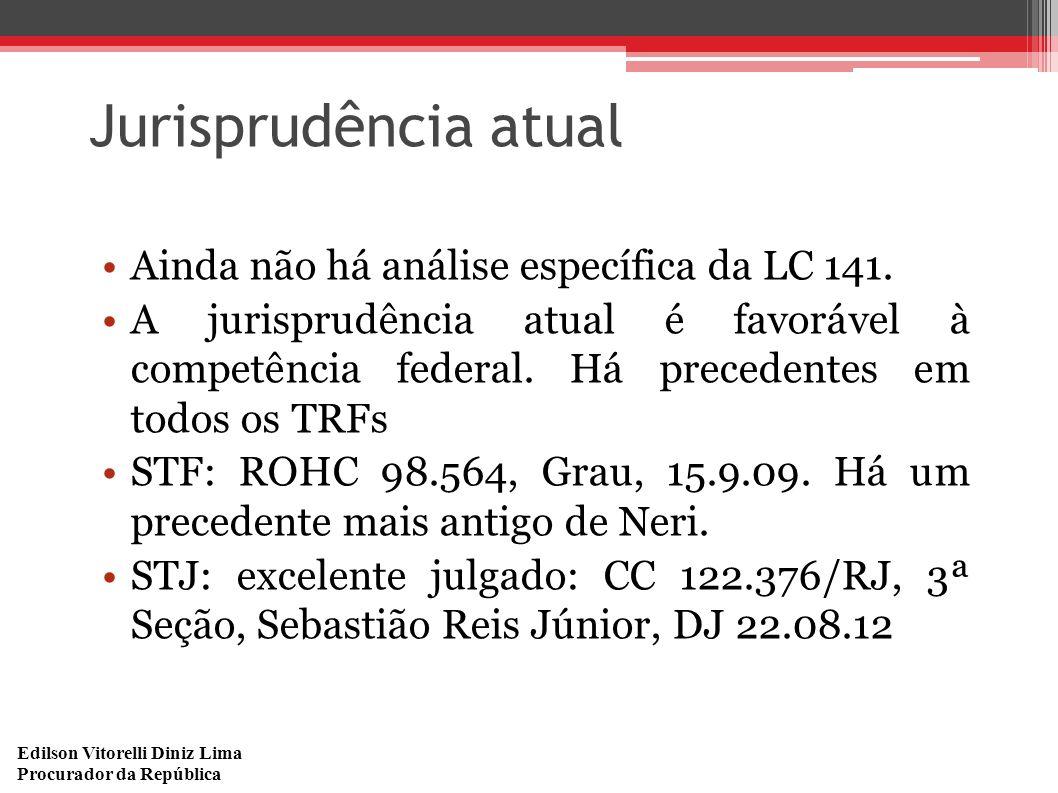 Jurisprudência atual Ainda não há análise específica da LC 141.