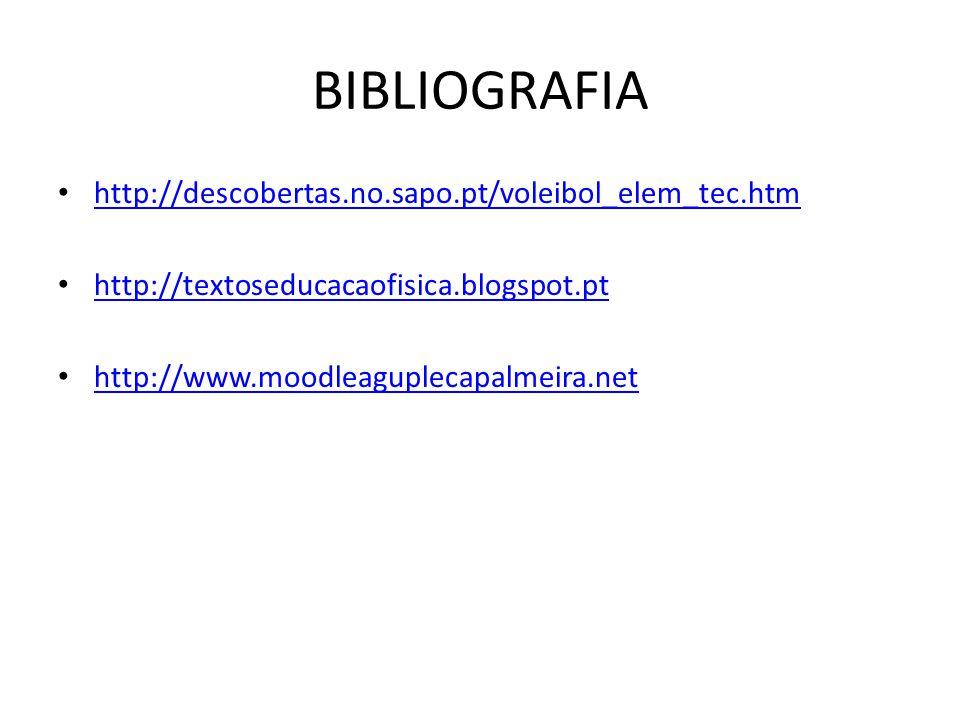 BIBLIOGRAFIA http://descobertas.no.sapo.pt/voleibol_elem_tec.htm