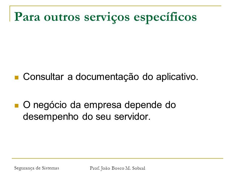 Para outros serviços específicos