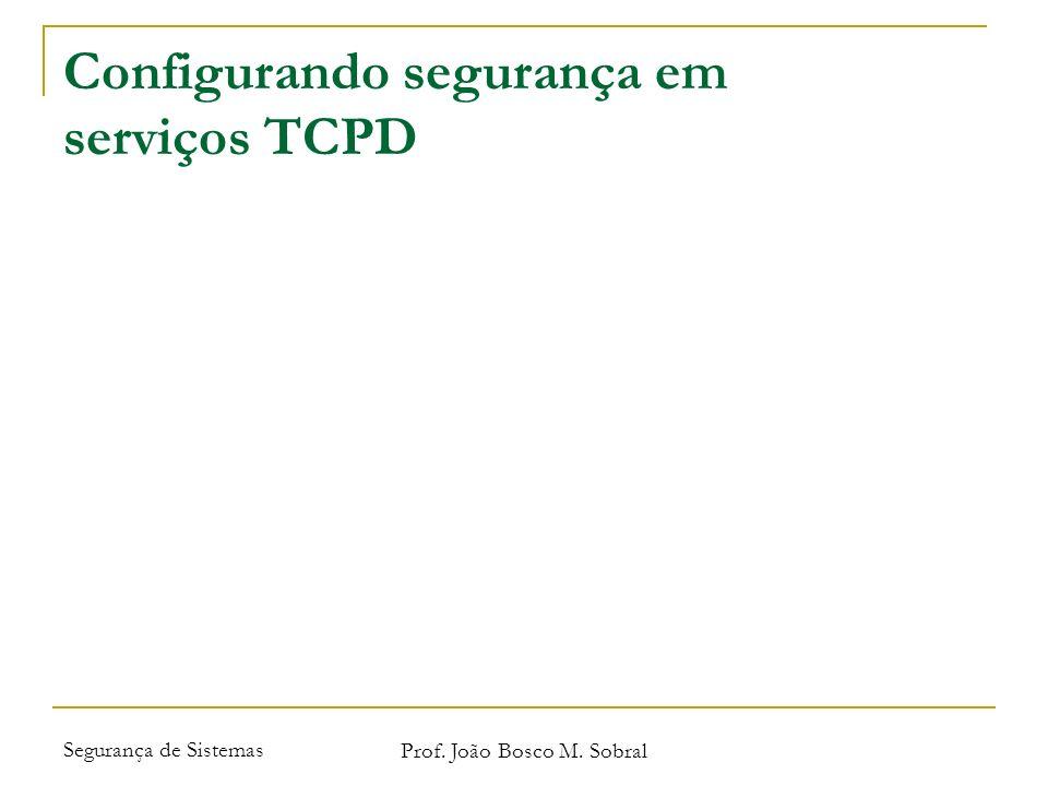 Configurando segurança em serviços TCPD