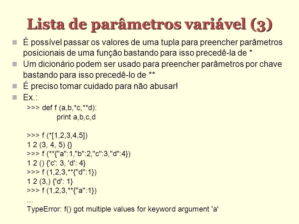 Lista de parâmetros variável (3)