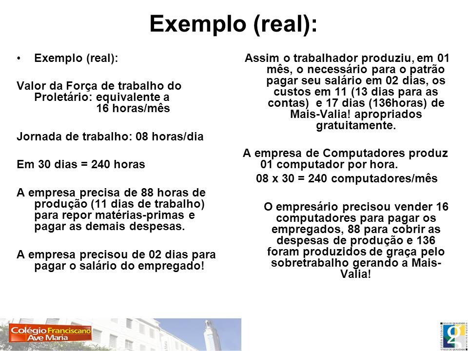 Exemplo (real): Exemplo (real):