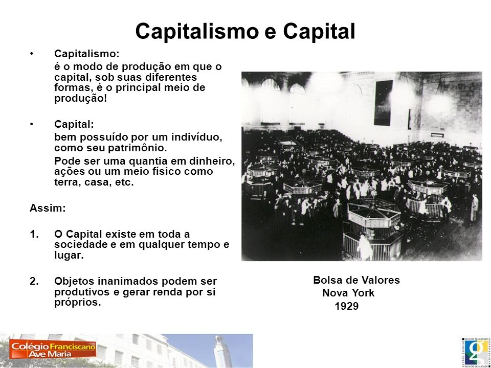 Capitalismo e Capital Capitalismo: