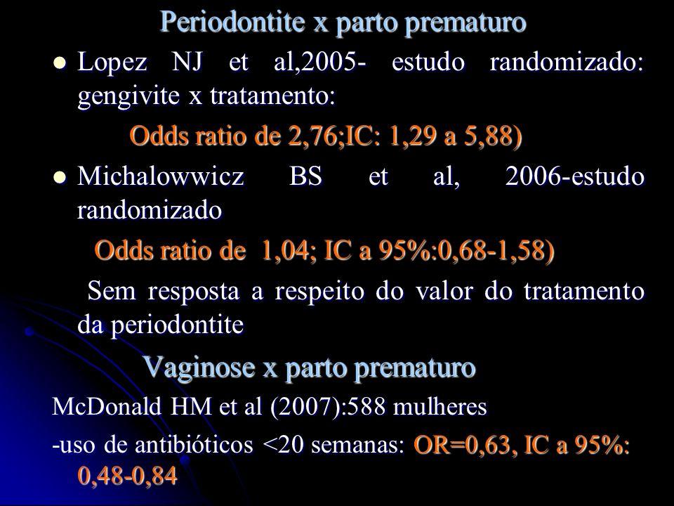 Periodontite x parto prematuro