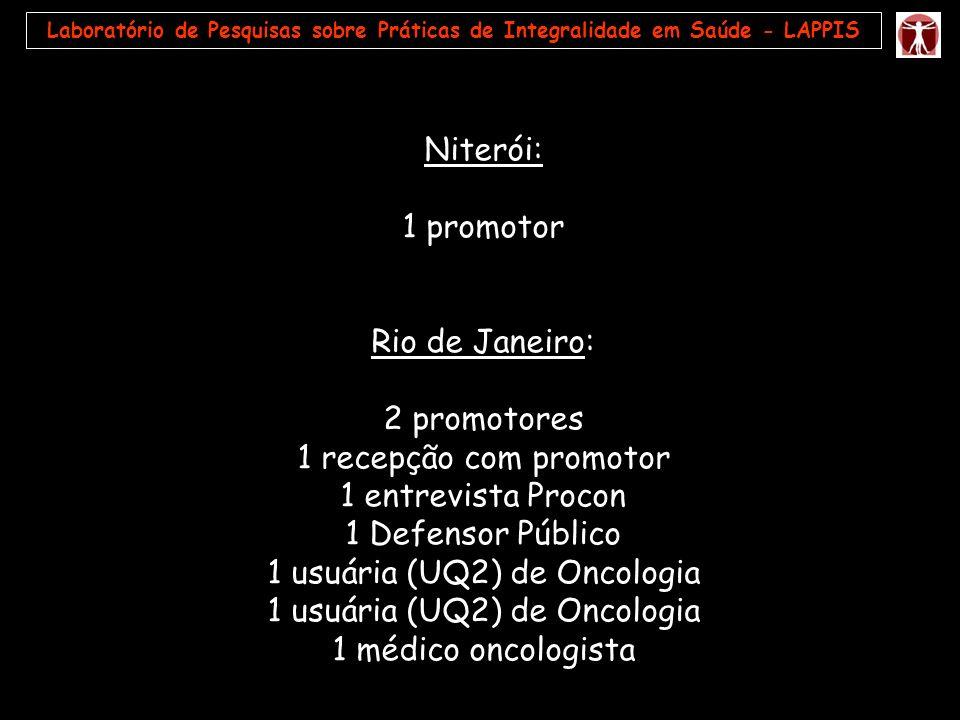 1 usuária (UQ2) de Oncologia