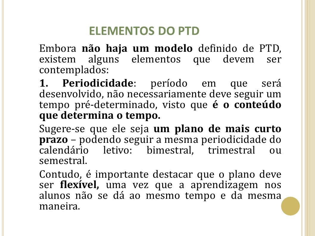 ELEMENTOS DO PTD