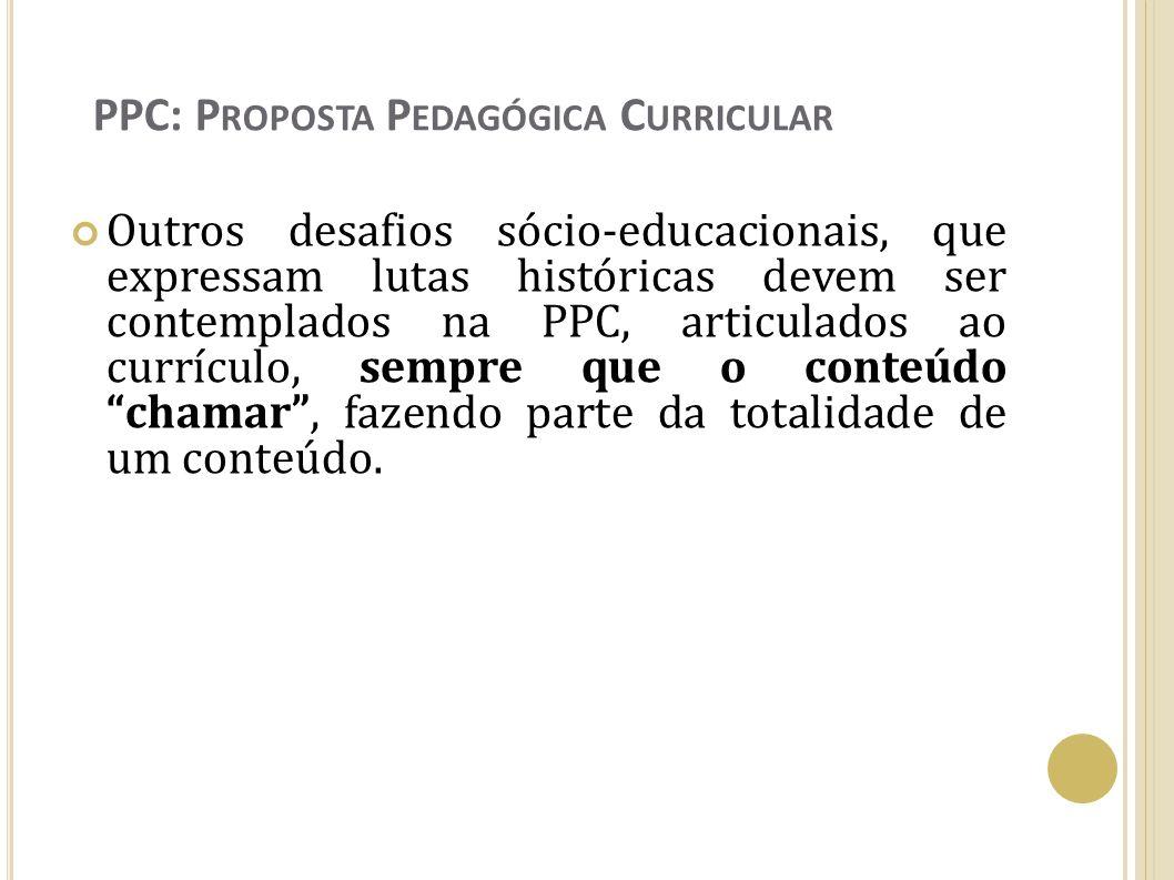 PPC: Proposta Pedagógica Curricular