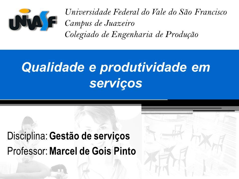 Qualidade e produtividade em serviços